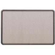 "Quartet® Fabric-Covered Contour Bulletin Board, Graphite Frame, 36"" x 24"""