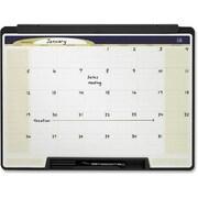 Quartet® - Calendrier mensuel Cubicle Motion à effacement sec, 24 po x 18 po