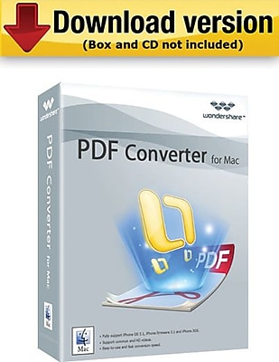 Wondershare PDF Converter Pro for Mac (1-User) [Download]