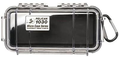 Pelican 1030-025-100 Micro Case for Small Accessories, Clear/Black