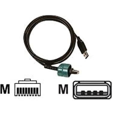 Zebra Technologies® AK18666-2 USB to RJ-45 72 Cable, 6'(L)