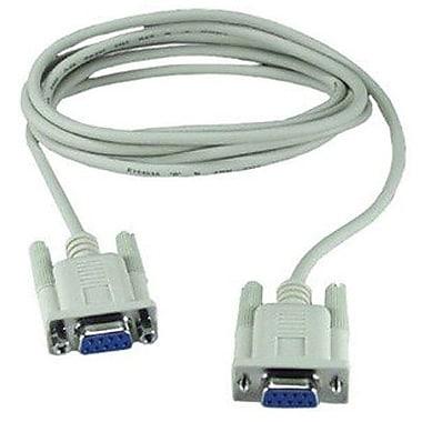 QVS® CC2045 Null Modem Cable, 10'(L)