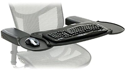 Ergoguys Mobo Chair Mount Ergo Keyboard/Mouse Tray, Black (MECS-BLK-001)