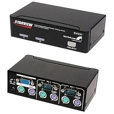 StarTech Starview™ SV231 Reliable KVM Switch, 2 Ports