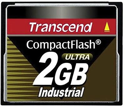 Transcend® TS2GCF100I Ultra Speed Industrial CompactFlash Memory Card, 2GB