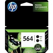 HP 564 Black Standard Yield Ink Cartridge, 2/Pack (C2P51FN#140)