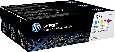 HP (CF371AM) Cyan/Magenta/Yellow Toner Cartridge, Multi-pack (3 cart per pack)
