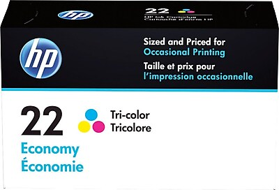 HP 22 Tricolor Economy Ink Cartridge (B3B19AN)