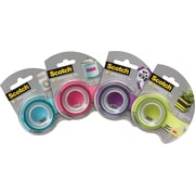 "Scotch® Expressions Tape, Removable, 3/4"" x 300"" with Dispenser"