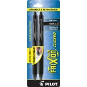 Pilot FriXion Ball Clicker Erasable Retractable Gel-Ink Pens, Fine Point (0.7mm), Black, 2/Pk (31460)