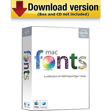 Macware MacFonts Complete Collection for Mac (1-User) [Download]
