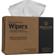 "Brighton Professional™ Glass & Surface Wipers, 9.75"" x 16.5"", 150/Bx, 6/CT"