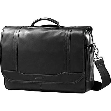 Samsonite – Sac à rabat pour ordinateur portatif de 15,6 po, cuir colombien, noir