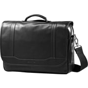 "Samsonite 15.6"" Columbian Leather Messenger Laptop Bags, Black"