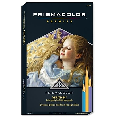 Prismacolor Verithin Coloured Pencils, 36 Assorted Colours