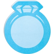 "Post-it® Die-Cut Memo Cube, 3"" x 3"", Blue, Ring-Shaped, 2 Pads/Pack (2050-FC-RING)"