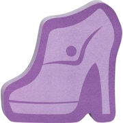 "Post-it® Die-Cut Memo Cube, 3"" x 3"", Purple, Shoe-Shaped, 2 Pads/Pack (2050-FC-SHOE)"