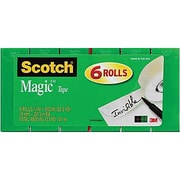 "Scotch® Magic™ Tape 810, 3/4"" x 800 in, 6/Pack"