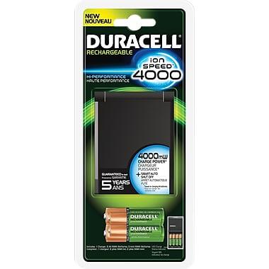 Duracell® – Chargeur de piles avec piles rechargeables, 2 x AA et 2 X AAA