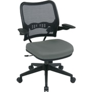 Office Star SPACE Fabric Computer and Desk Office Chair, Fixed Arms, Gray (13-7N1P3-226)