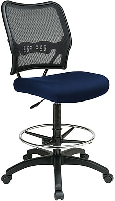 Office Star® SPACE® Fabric Air Grid® Back Deluxe Drafting Chair, Navy