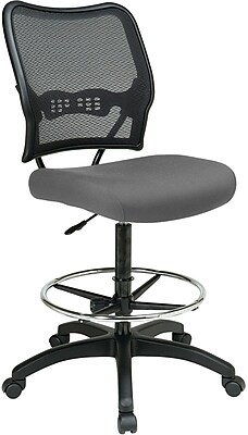 Office Star® SPACE® Fabric Air Grid® Back Deluxe Drafting Chair, Grey