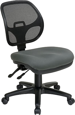 Office Star Proline II Fabric Computer and Desk Office Chair, Armless, Gray (2902-226)