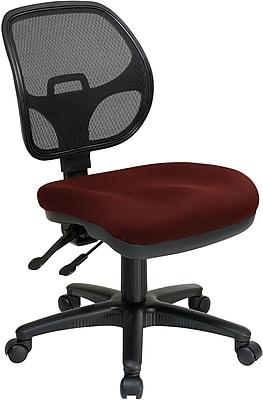 Office Star ProLine II ProGrid Fabric Armless Task, Black/Burgundy (2902-227)