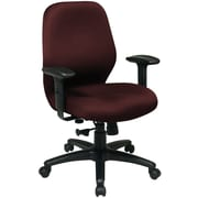 Office Star Fabric Managers Office Chair, Adjustable Arms, Burgundy (3121FB-227)