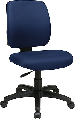 Office Star WorkSmart Fabric Computer and Desk Office Chair, Armless, Navy (33101-225)