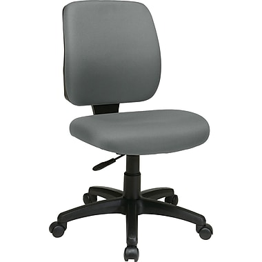 Office Star WorkSmart Fabric Computer and Desk Office Chair, Armless, Gray (33101-226)
