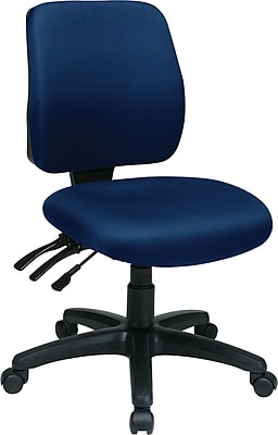 Office Star Fabric Computer and Desk Office Chair, Navy, Armless Arm (33320-225)