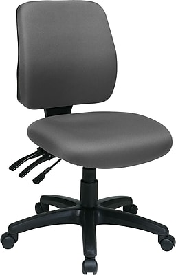 Office Star Fabric Computer and Desk Office Chair, Gray, Armless Arm (33320-226)