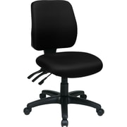 Office Star Fabric Computer and Desk Office Chair, Black, Armless Arm (33320-231)