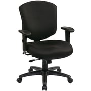Office Star WorkSmart Fabric Executive Office Chair, Adjustable Arms, Black (41573-231)
