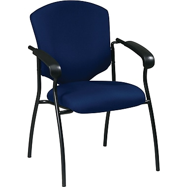 Office Star WorkSmart™ Fabric Executive Guest Chair with Arm, Navy