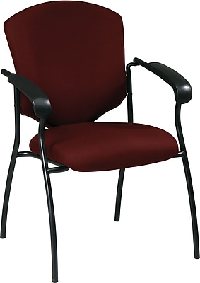 Office Star Worksmart Steel Guest Chair, Burgundy (41575-227)