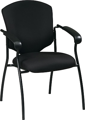 Office Star WorkSmart™ Fabric Executive Guest Chair with Arm, Black