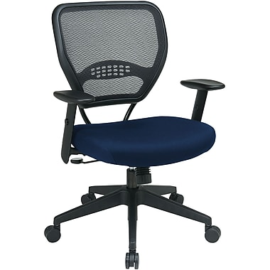 Office Star SPACE Fabric Managers Office Chair, Adjustable Arms, Carbon (55-7N17-225)