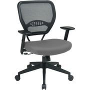 Office Star SPACE Fabric Managers Office Chair, Adjustable Arms, Gray/Silver (55-7N17-226)