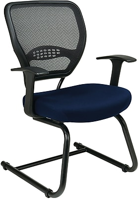 Office Star Space® Professional Air Grid® Back Fabric Guest Chair, Navy
