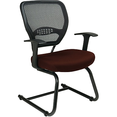Office Star Space® Professional Air Grid® Back Fabric Guest Chair, Burgundy