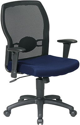 Office Star WorkSmart™ Polyester Woven Mesh Back Task Office Chair, Navy