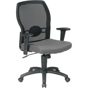 Office Star 599302-226 Work Smart Fabric Mid-Back Task Chair with Adjustable Arms, Gray