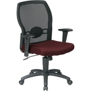 Office Star 599302-227 Work Smart Fabric Mid-Back Task Chair with Adjustable Arms, Burgundy