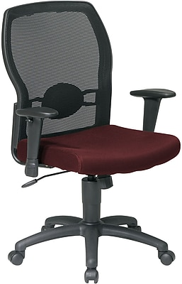 Office Star WorkSmart™ Polyester Woven Mesh Back Task Office Chair, Burgundy