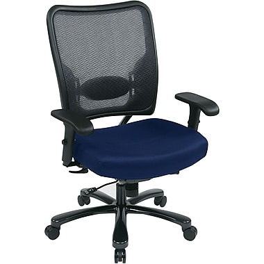 Office Star Space® Gunmetal Big and Tall Office Chair, Navy