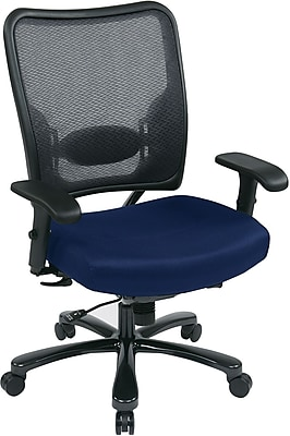 Office Star Space® Gunmetal Big & Tall Office Chair, Navy