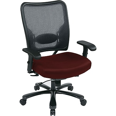 Office Star Space® Gunmetal Big and Tall Office Chair, Burgundy