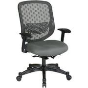 Office Star SPACE Fabric Executive Office Chair, Fixed Arms, Gray (829-R2C728P-226)